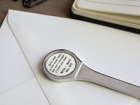Personalized Linen Letter Opener