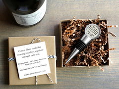 Personalized Linen Wine Stopper