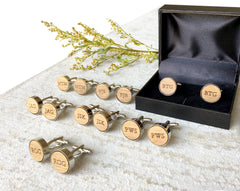 monogram groomsmen cufflinks