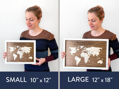 Wood Map with Personalized Milestone Pins