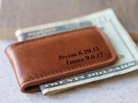 Money Clip with Kids Names