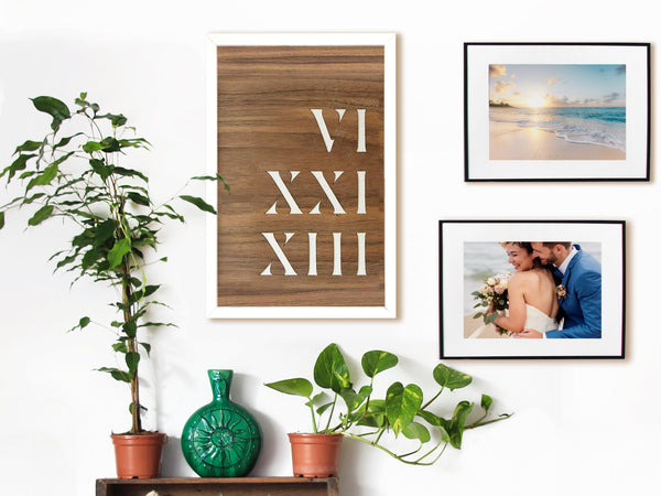 Wood Wall Art • Year in Roman Numerals