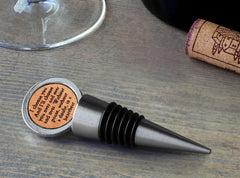 Leather Bottle Stopper