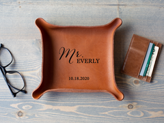 Mr & Mrs - Leather Trays