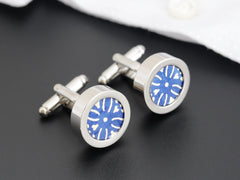 London Paper Cufflinks & Tie Clip
