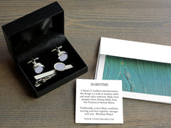 Maritime Cotton Cufflinks