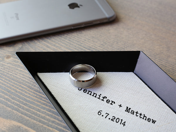 Brooklyn- Personalized Linen Ring Tray