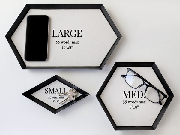 Corporate Metal Tray with Signatures