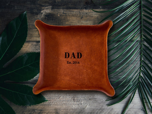 new dad gift leather tray