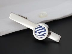Northern Sky Japanese Paper Cufflinks & Tie Clip