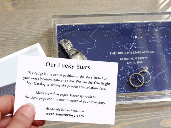 Our Lucky Stars - 1st Anniversary Tray