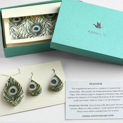 Peacock Paper Jewelry