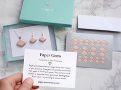 Rose Quartz Paper Gems ◆ Gift Set