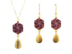 purple heart wood jewelry, 5th anniversary gift