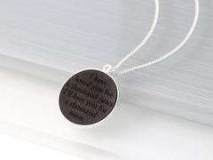 secret message leather necklace