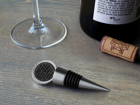 Secret Message Bottle Stopper