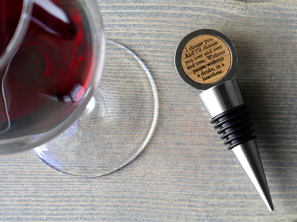 Newlywed Wine Stopper