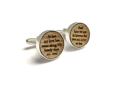Whiskey Barrel Cufflinks & Tie Clip