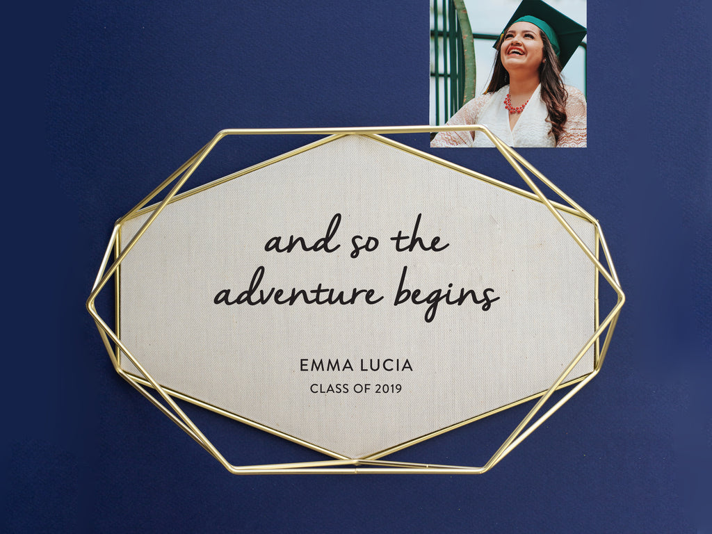 brass tray graduation quote