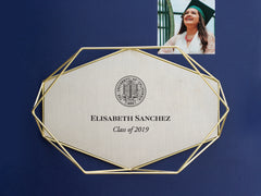 Brass Tray with University Seal