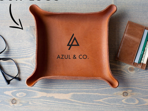 Corporate Leather Trays with Logo
