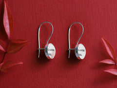 cotton anniversary earrings