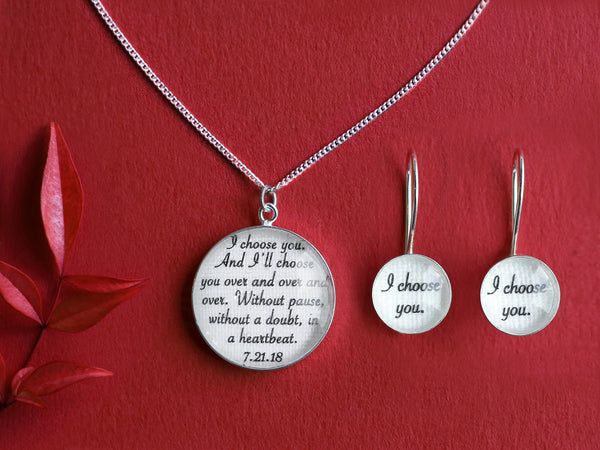 Cotton Jewelry Set with Vows / Song