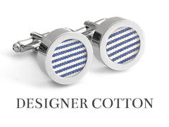 Cotton anniversary gifts for him - Maritime Cotton Cufflinks