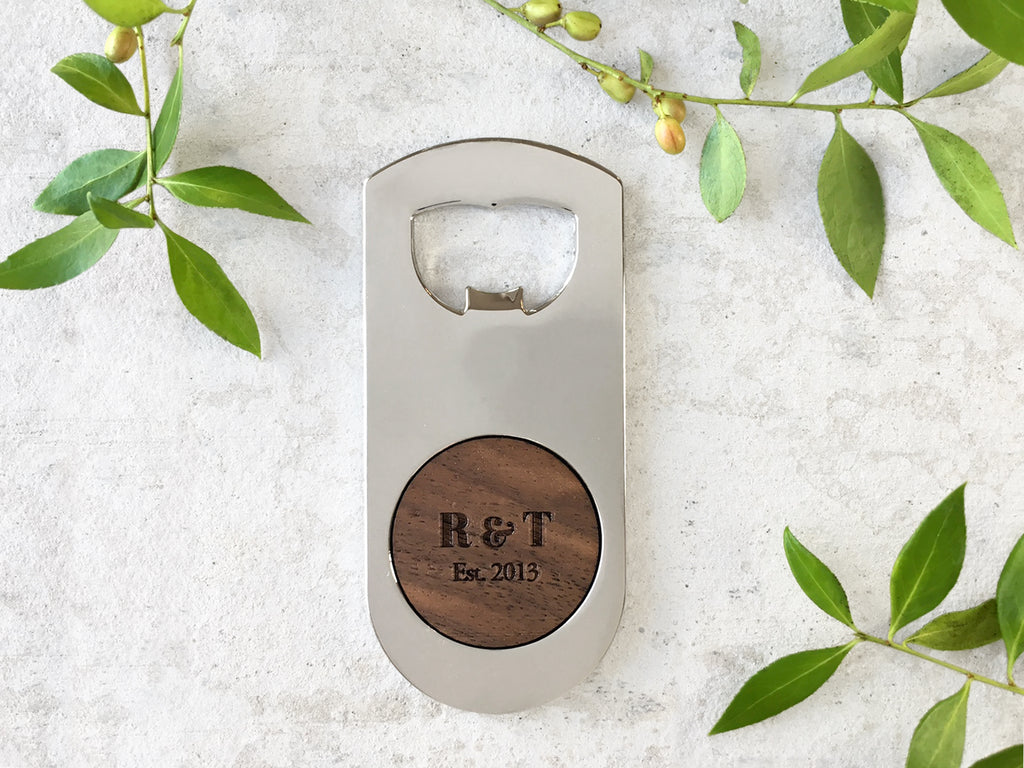 Personalized Wood Bottle Opener