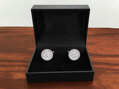 Cufflinks For Him - Cufflinks With Vows Or Song
