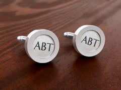 Cufflinks For Him - Monogram Cufflinks