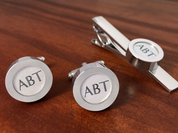 Cufflinks For Him - Monogram Tie Bar