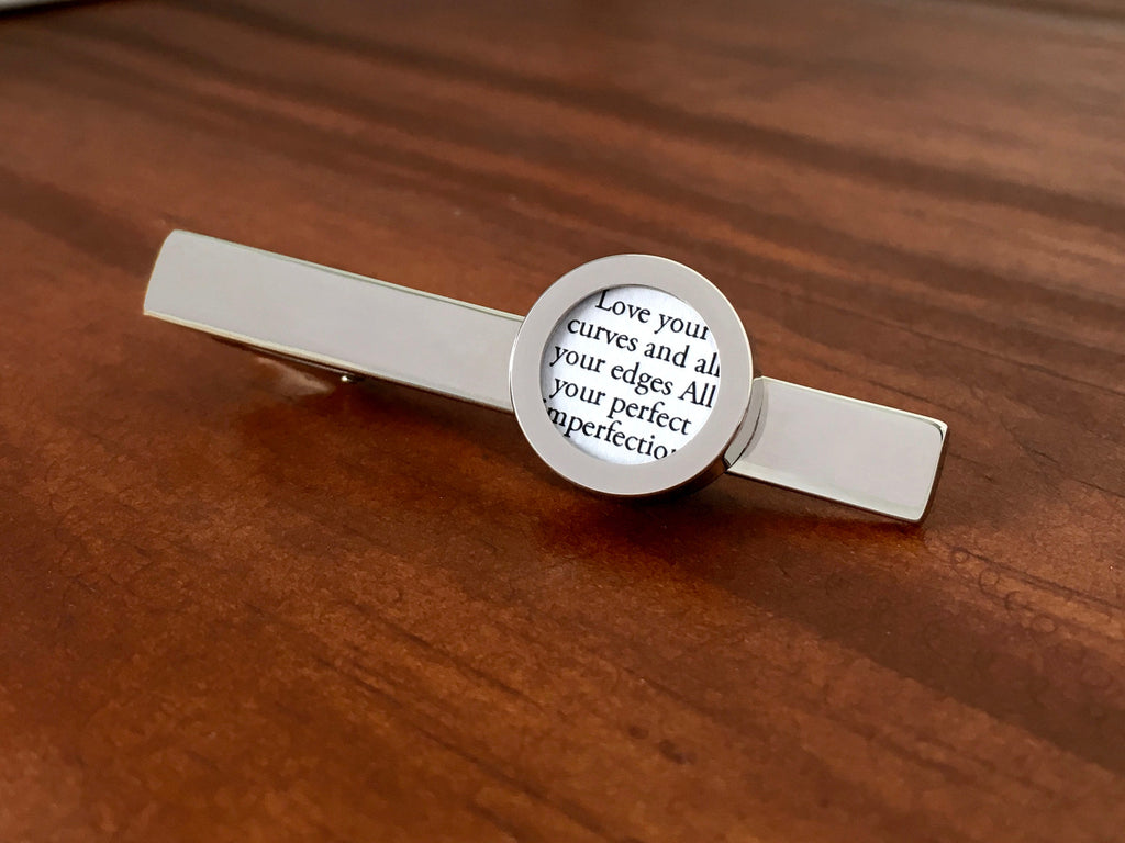 Tie Clip with Vows or Song