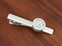 Cufflinks For Him - Tie Clip With Vows Or Song