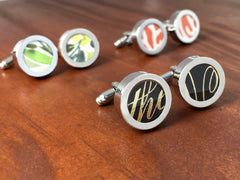 Cufflinks For Him - Wedding Invitation Cufflinks
