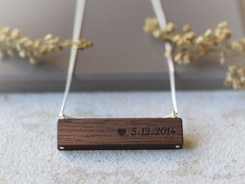 Necklace Engraved with Special Dates