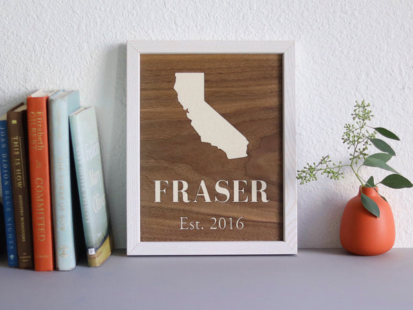 Personalized Walnut Wood Wall Art