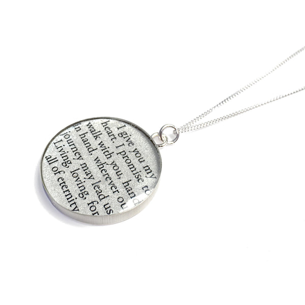 Necklace with Vows or Song