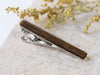 dark walnut wood tie clip