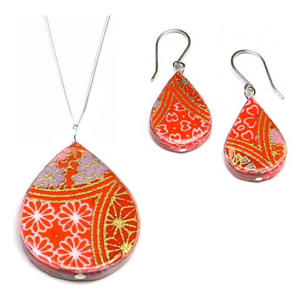 Earrings - Cherry Paper Earrings