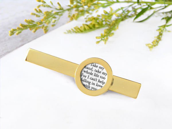 gold personalized tie clip