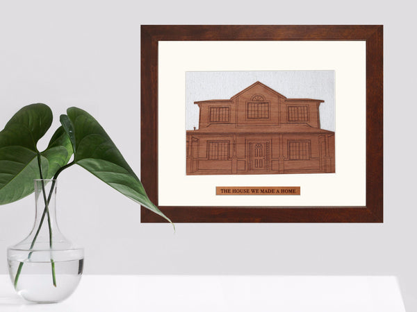 Wood Wall Art- Personalized with Your Home