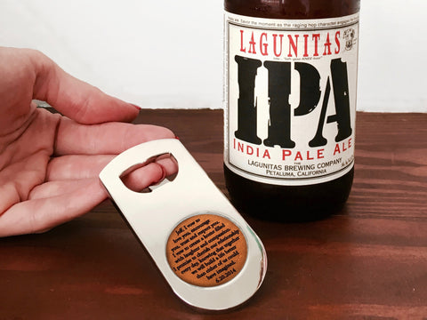 Personalized Leather Bottle Opener