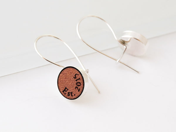 leather anniversary earrings for her