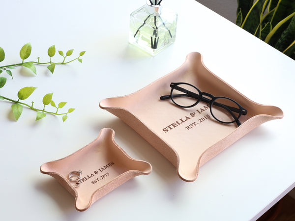 Small Leather Ring Tray