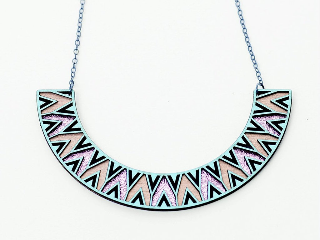 Arc Leather Necklace