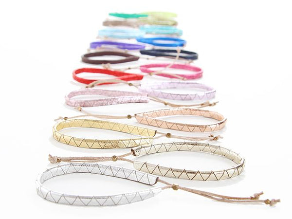 leather anniversary bracelets