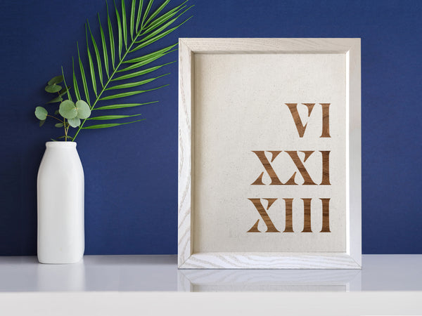 Your Special Year • Roman Numerals on Linen or Silk