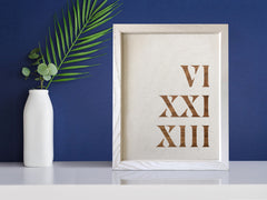 Your Special Year • Roman Numerals on Linen