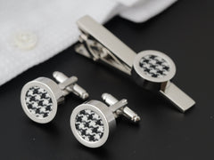 Linen cufflinks for him